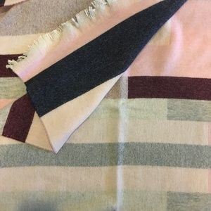Talbots Accessories - Talbots blocked-stripe blanket wrap pink scarf